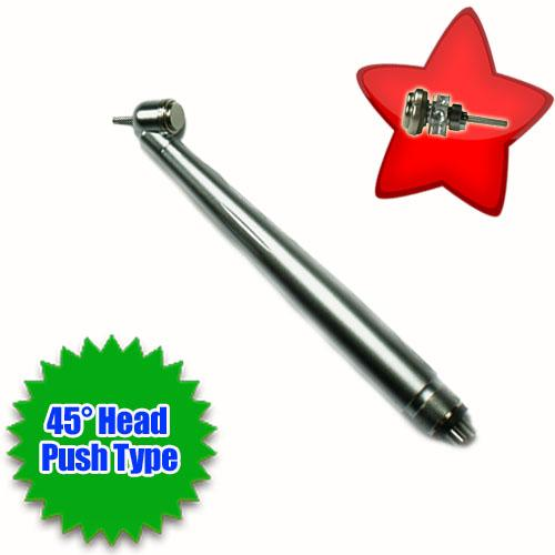 Dental High Speed 45° Head A-Class Push Type Handpiece