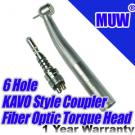 MUW® Dental KAVO Style Quick Coupler Swivel Fiber Optic Handpiece Push Button Torque Head Triple Spray