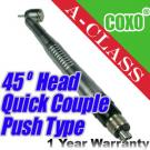 Dental High Speed 45° Head A-Class Push Type Quick Coupler Handpiece